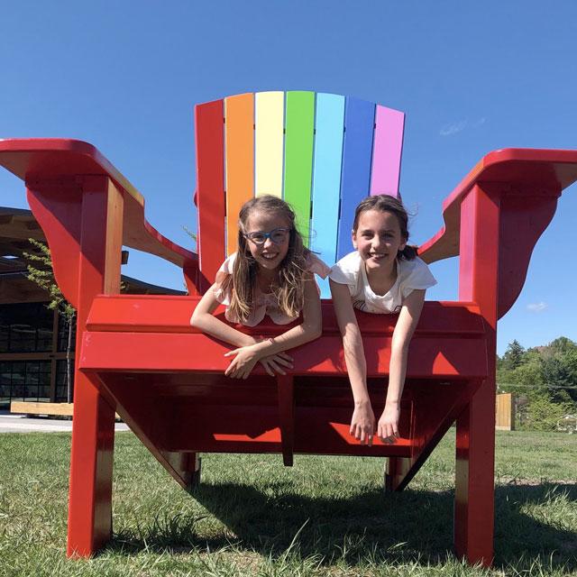 Tournée des chaises de type Adirondack
