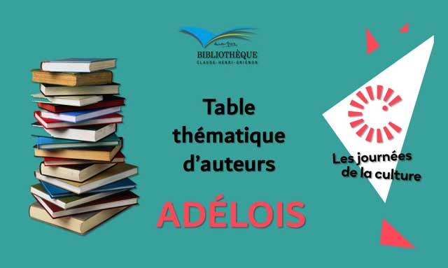 Table thématique d'auteurs Adélois