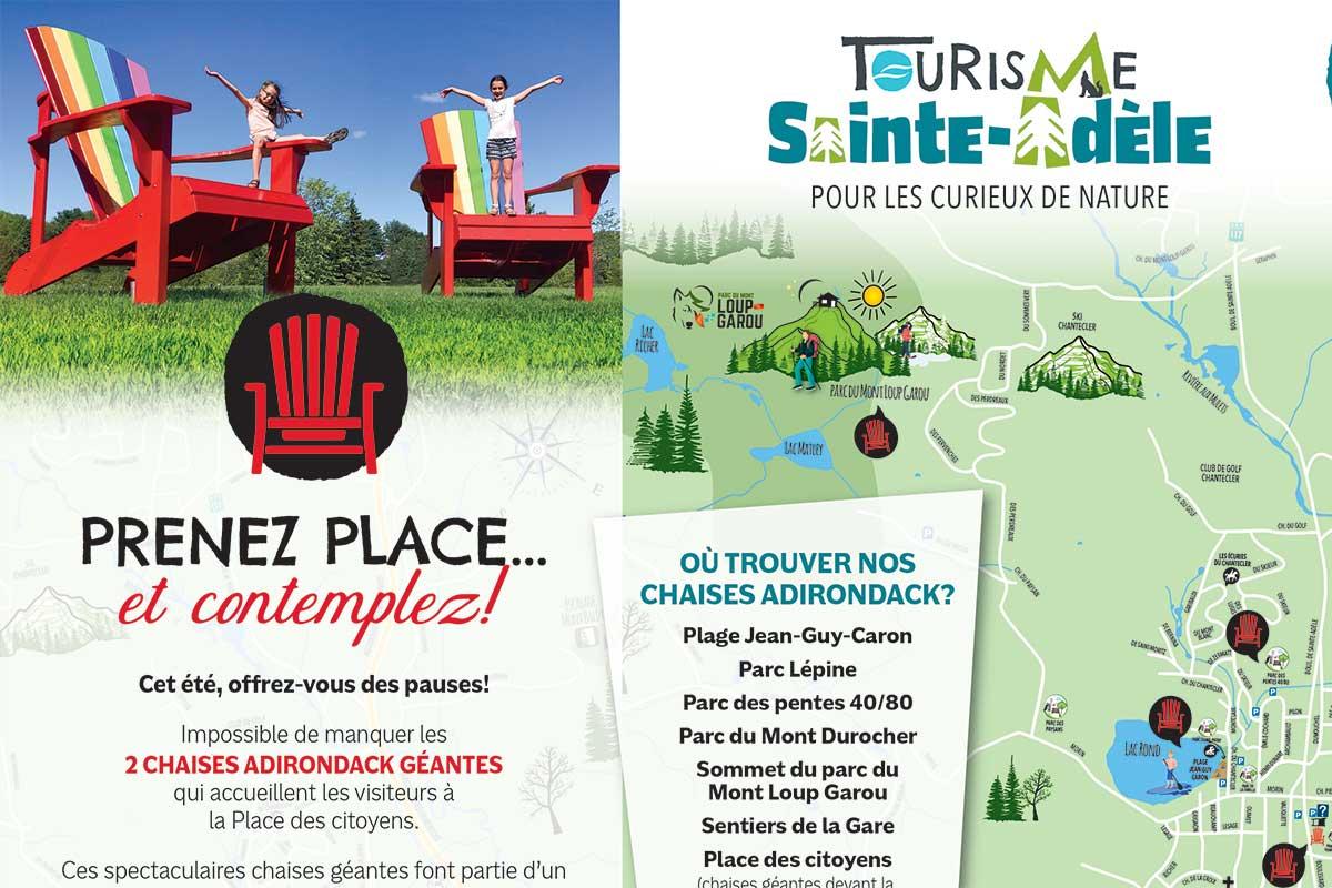 Carte chaises Adirondak - Sainte-Adèle